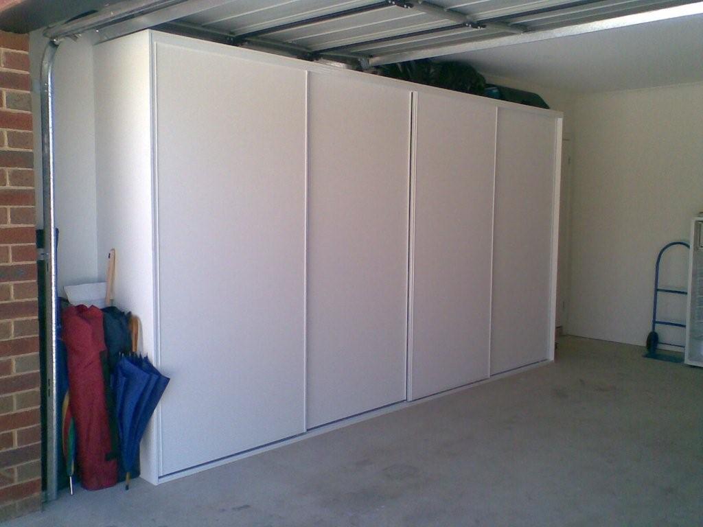 garage storage doors closed the wardrobe guy. Black Bedroom Furniture Sets. Home Design Ideas